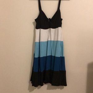 color block sundress